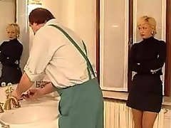 Filthy milf act of love with a worker
