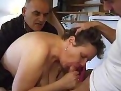 GUY TAKES HIS Of age BBW WIFE TO A FRIEND TO FUCK