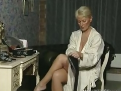 Mature plays with herself in various scenes