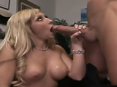 Billy Glide is one hard-dicked stud who can't live without oral-stimulation sex with Blond with huge hooters and bald snatch