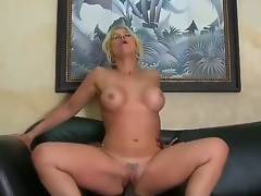 Very sexy and appetizing Milf golden-haired Sarah Vandella with the indescribable bra buddies sucks the large darksome instrument of her boss  that babe makes this very sexy and with a pleasure! Then they fuck.