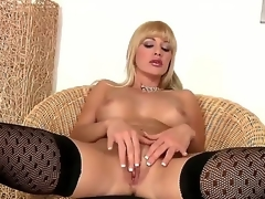Natalli DAngelo looks great in those black nylons and matching heels. And I have to admit, shes got some moves on her, too. The kind solely a MILF can possess. So hot.