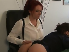 Kylie Ireland and Sinn Sage are ready to have some proper enjoyment at work instead of just wasting time grinding. See the redhead explore Sinns gorgeous tight body here!