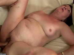 Eve Tickler is a nasty fuck hungry granny who cant receive enough. Dirty aged woman with pretty small tits gives oral sex to her fuck buddy and then gets her slit fucked deep and hard on the sofa