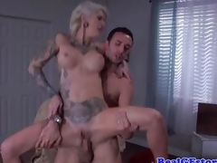 Tattooed Kleio Valentien loves hard cock
