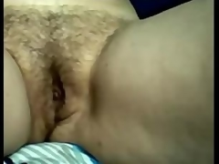 Amateur Busty Aged Mamma Rubbing Her Hairy Pussy