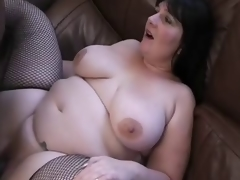 Raven-haired English BBW acquires IR BBC