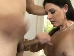 Breathtaking milf with lengthy black hair, sexy tits and a tight cum-hole has fantasies to explore