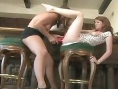 Milf pleasures a juvenile redheaded girl