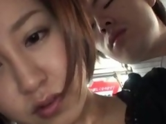 Hawt oriental milf nailed hard in a bus