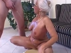 Piss: granny in satin - make water and intrigue b excitement