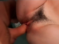 Sexy Brunette hair MILF Nadia Fantasies Gets Her Shaggy Pussy Fucked At The Gym