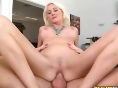 Hardcore sex with beautiful big titted golden-haired milf
