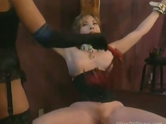 Busty Resigned Mature Receives Tied Up and Whipped By Super Hot Dominatrix