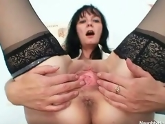 Visit to the gynecologist by ribald brunette mommy