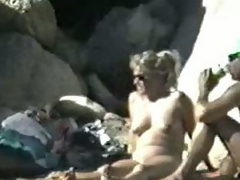 I discharged this aged nudist couple at the nudist beach