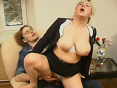 Chubby mamma having years of fucking experience and now aching for young cock
